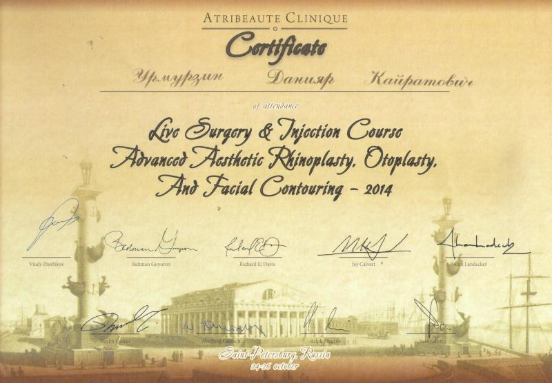 Advanced aesthetic rhinoplasty, otoplasty, and facial contouring. St.Petersburg, 2014.